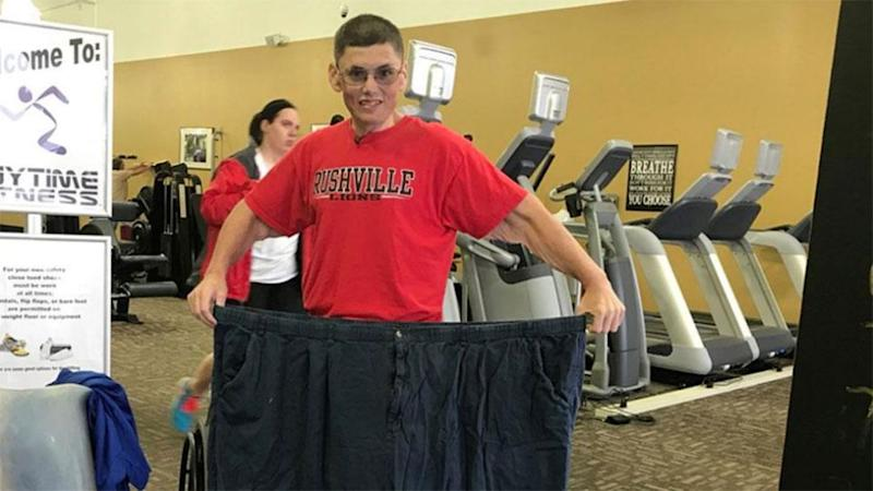 Stanley credits his weight loss to his trainer and five days a week at Anytime Fitness. Photo: Stanley Hollar