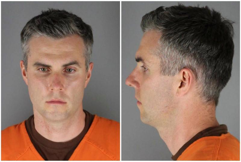 Former Minnesota police officer Thomas Lane poses for a booking photograph in Minneapolis