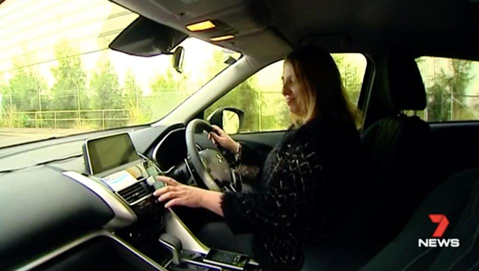 For Uber driver Rosalina Kariotakis, chatting to passengers is one of the perks of the job – unless they are too drunk. Source: 7 News