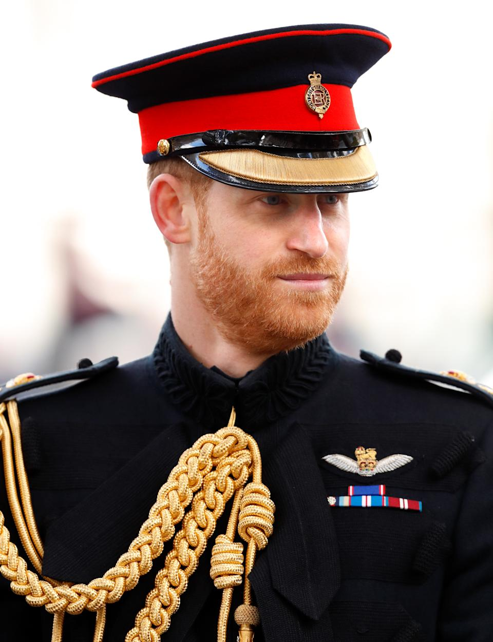 Prince Harry attends the 91st Field of Remembrance at Westminster Abbey on November 7, 2019 in London