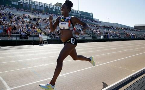In 2014 Alysia Montano made global headlines when she competed at eight months pregnant at the US national trials. - Credit: Getty Images