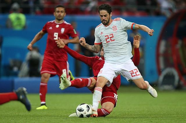 Real Madrid midfielder Isco has impressed in Spain's first two matches (AFP Photo/Roman Kruchinin)