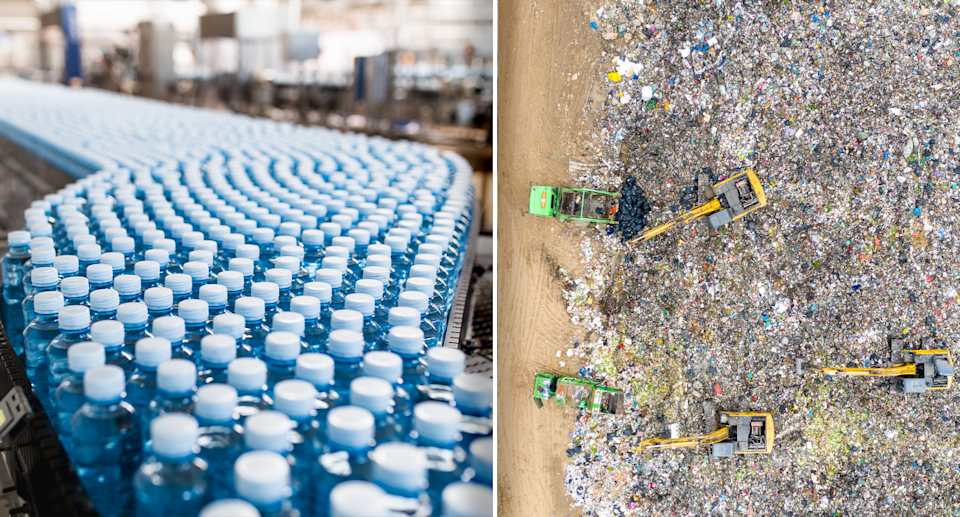 The majority of plastic used in Australia is not recycled. Source: Getty