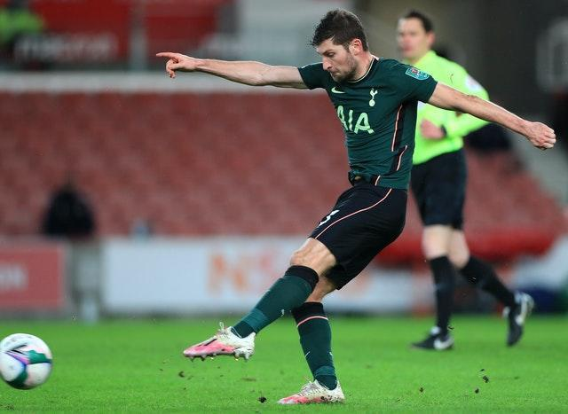 Ben Davies fires in Tottenham's second goal