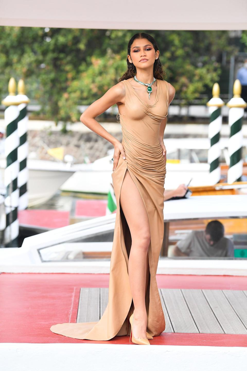 """<p>Does anyone else remember what happened at the Venice International Film Festival this year except for the fact Roach styled <a class=""""link rapid-noclick-resp"""" href=""""https://www.popsugar.com/Zendaya"""" rel=""""nofollow noopener"""" target=""""_blank"""" data-ylk=""""slk:Zendaya"""">Zendaya</a> in this Balmain look?</p>"""