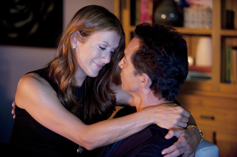 """This image released by ABC shows Kate Walsh, left, and Benjamin Bratt in a scene from """"Private Practice."""" ABC Entertainment spokeswoman Alison Rou said Monday that the """"Grey's Anatomy"""" spinoff will be ending after 13 episodes this season, most likely in January. Series star Kate Walsh had previously announced she would be leaving after 13 episodes.  (AP Photo/ABC, Colleen Hayes)"""