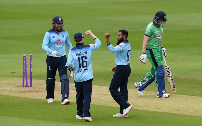 Adil Rashid starred with the ball for England - GETTY IMAGES