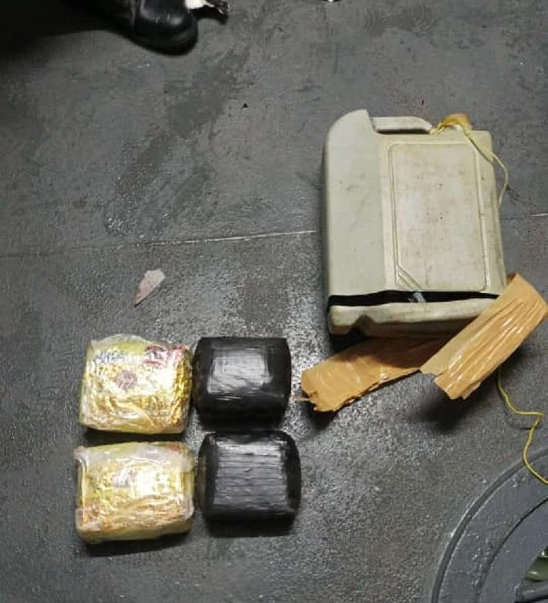 The seized drugs found hidden inside an oil barrel by the Johor Malaysian Maritime Enforcement Agency (MMEA) under Ops Jaksa operation early yesterday morning in. — Picture courtesy of the Johor Malaysian Maritime Enforcement Agency (MMEA)
