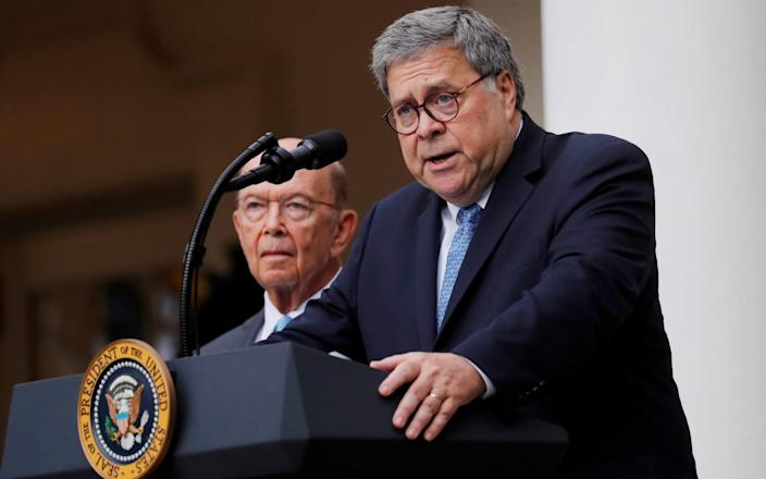 Bill Barr refuted the president's claims - Reuters