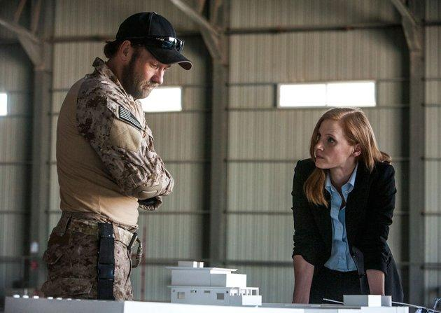 Jessica Chastain, right, in 'Zero Dark Thirty'