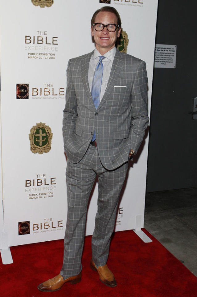"Carson Kressley arrives at ""The Bible Experience"" opening night gala, a rare exhibit of biblical artifacts, in New York City on Tuesday, March 19 in New York."