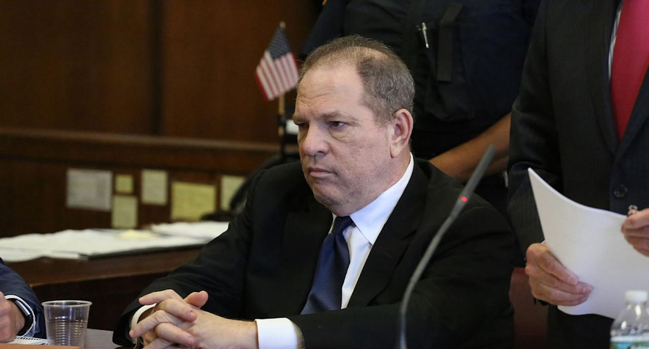Harvey Weinstein was first accused of decades of sexual harassment in a <em>New York Times</em> article in 2017. Over the coming months more allegations were made against the film producer, and New York state prosecutors filed a lawsuit against the Weinstein Company. In May of 2018 Weinstein turned himself in to police on sexual misconduct charges. As a result of the high-profile nature of the case the #MeToo movement began trending globally, with women speaking out about their own experiences of sexual assault and harassment. Photo: Getty Images
