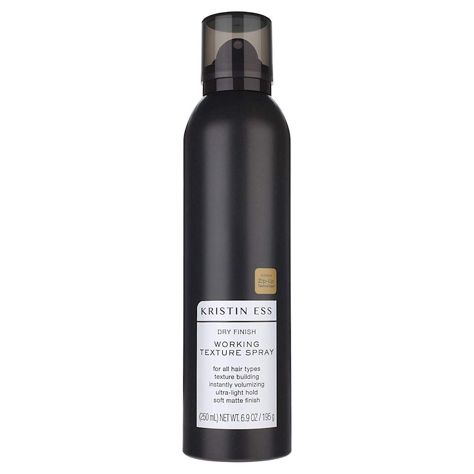 """<p>This Dry Finish Working Texture Spray builds texture and height with a light hold that doesn't weigh down short strands. It might not deliver Kristen Ess's signature beach waves, but it <em>can</em> provide the same matte finish.</p> <p><strong>$14</strong> (<a href=""""https://www.target.com/p/kristin-ess-dry-finish-working-texture-spray-6-9oz/-/A-51397116"""" rel=""""nofollow"""">Shop Now</a>)</p>"""