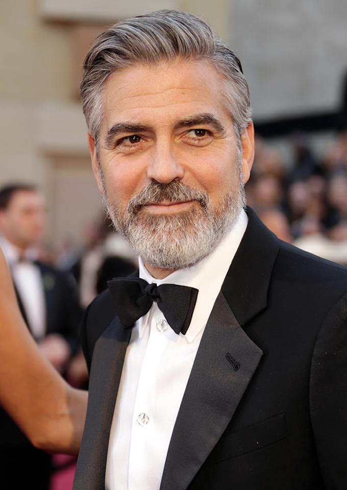 George Clooney arrives at the Oscars in Hollywood, California, on February 24, 2013.