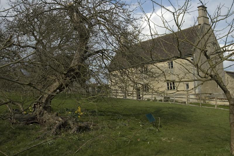 The birthplace of Isaac Newton, Woolsthorpe Manor and the famous apple tree