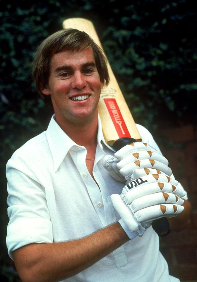 AUSTRALIA - UNKNOWN DATE:  (FILE PHOTO) David Hookes of Australia poses for a photo with bat and gloves. Former Test cricketer and Victorian Bushrangers coach David Hookes past away with serious head injuries on Monday 19 January, 2004 after being assaulted outside a St Kilda pub in Melbourne. (Photo by Getty Images)