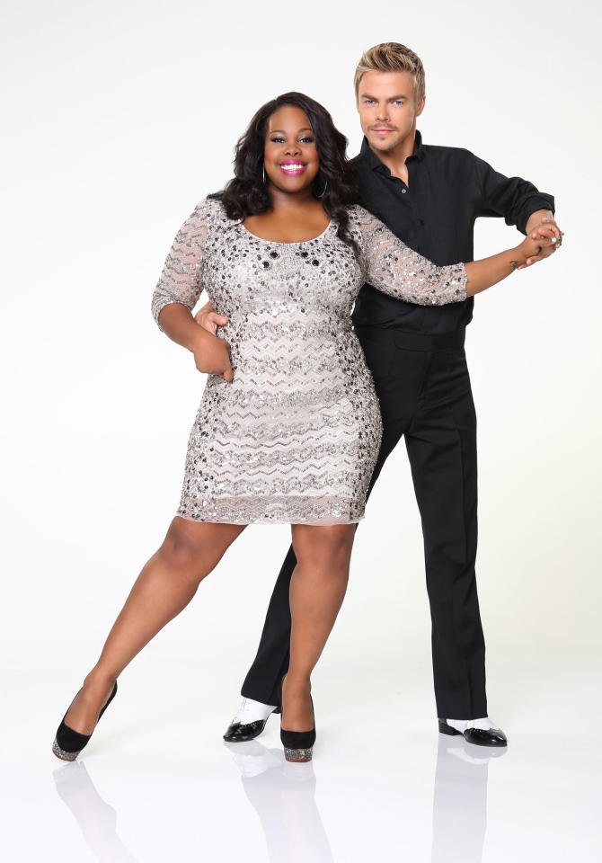 """Amber Riley partners with Derek Hough on ABC's """"Dancing With the Stars"""" Season 17."""