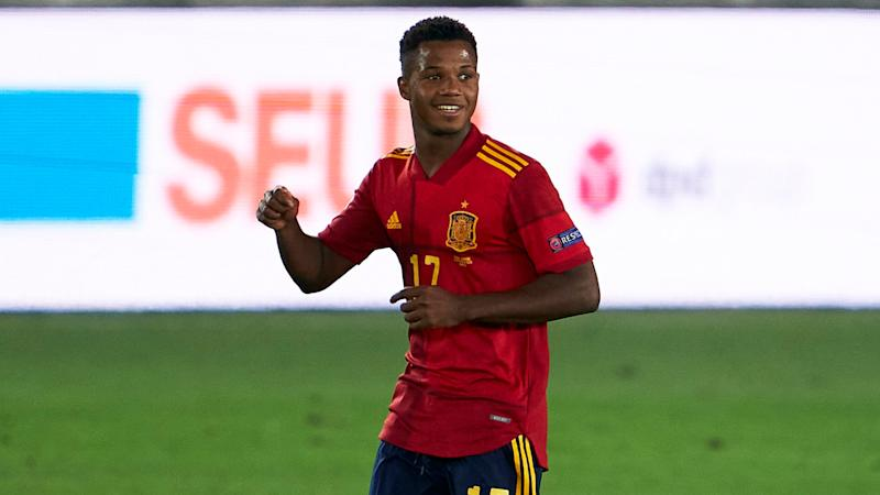 Fati aiming to convince Barcelona coach Koeman for opportunity after Spain heroics