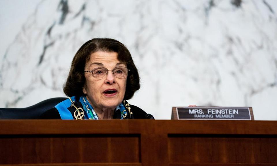 Feinstein speaks on the third day of Judge Amy Coney Barrett's Senate confirmation hearings.