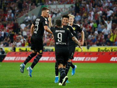 Bundesliga: Jadon Sancho inspires late comeback win for Borussia Dortmund over Cologne to make it two victories out of two