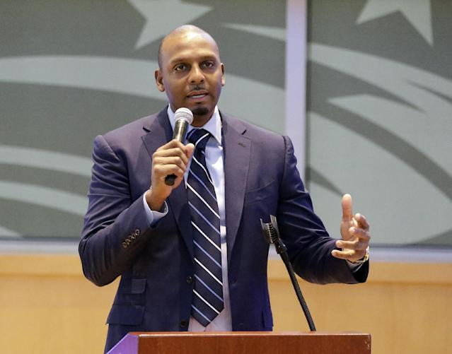 "Anfernee ""Penny"" Hardaway now coaches high school and AAU in Memphis. (AP)"