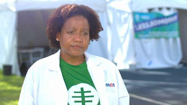 PHOTO: Dr. Jacqueline Delmont is the chief medical officer of SOMOS, which has expanded from New York City to other cities affected by the coronavirus to provide testing. (ABC News )