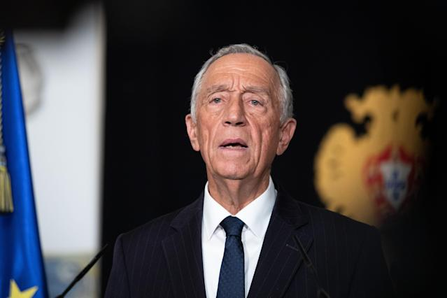 """President Marcelo Rebelo de Sousa declared a """"state of emergency"""" in Portugal on Wednesday, in a bid to contain the spread of COVID-19. (Getty Images)"""