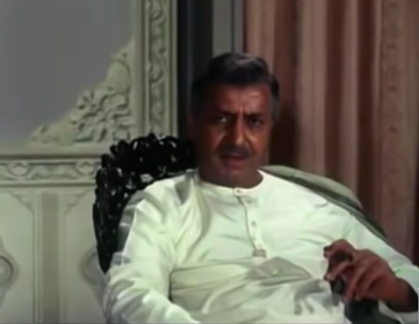 The actor played the stern patriarch, Rai Saheb in this Gulzar classic.