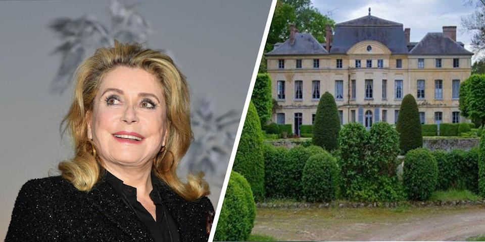 "<p>Catherine Deneuve is known for her classic sense of style, but her <a href=""https://www.elledecor.com/celebrity-style/celebrity-homes/news/a6422/catherine-deneuve-french-chateau/"" rel=""nofollow noopener"" target=""_blank"" data-ylk=""slk:chateau"" class=""link rapid-noclick-resp"">chateau</a>, which is outside of Paris, is just as attention-worthy. The sprawling property was designed by Belgium landscape-phenom Jacques Wirtz. Along with the 1,200 square-meter chateau that's wrapped by a moat, there are four master bedroom suites, multiple guest rooms, a sauna, and a cinema.<br></p>"