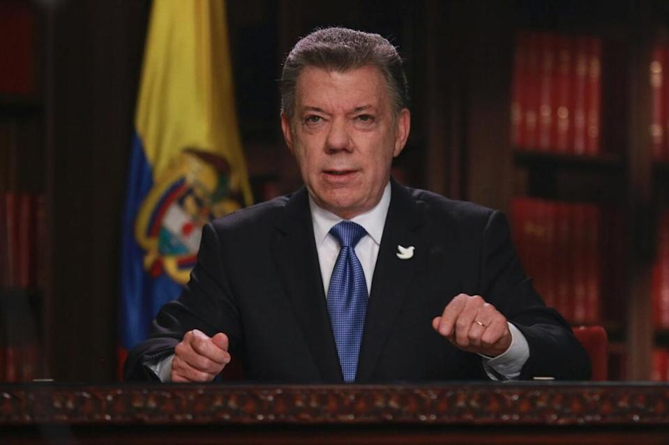 Colombian President Juan Manuel Santos and the ELN started a peace dialogue in Quito in February, seeking to end more than five decades of fighting (AFP Photo/HO)