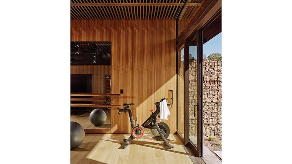 The fitness room with sliding doors. - Credit: Casey Dunn