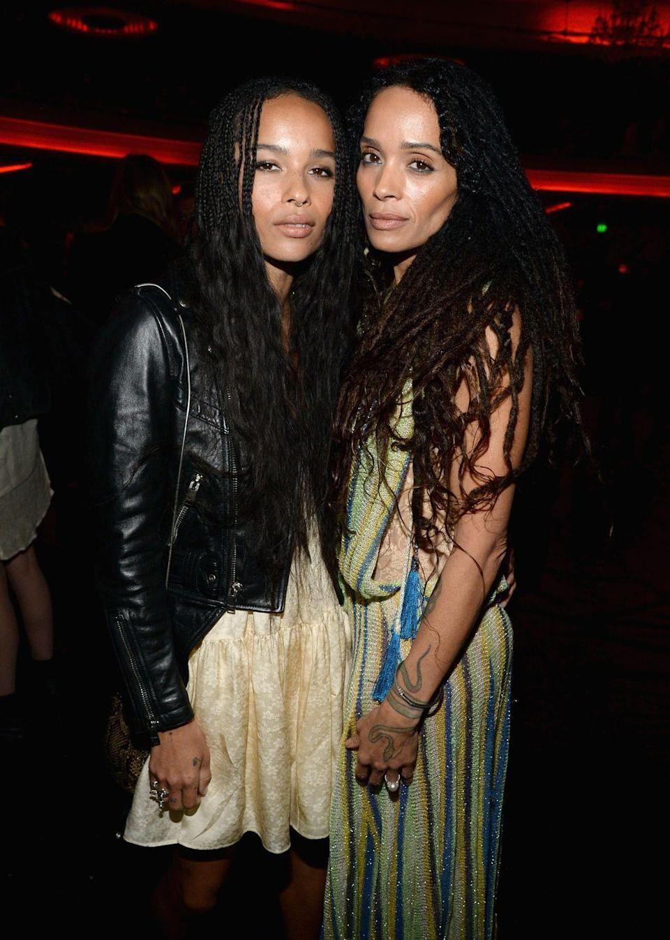 """<p>Age is nothing but a number. Lisa Bonet, 52, and Zoë Kravitz, 31, look more like twins than mother and daughter. Kravitz even re-created her mom's nude <em>Rolling Stone </em>cover <a href=""""https://www.harpersbazaar.com/celebrity/latest/a24400093/zoe-kravitz-recreates-lisa-bonet-nude-rolling-stone-photo/"""" rel=""""nofollow noopener"""" target=""""_blank"""" data-ylk=""""slk:for Halloween 2018"""" class=""""link rapid-noclick-resp"""">for Halloween 2018</a>, and the resemblance is uncanny. </p>"""