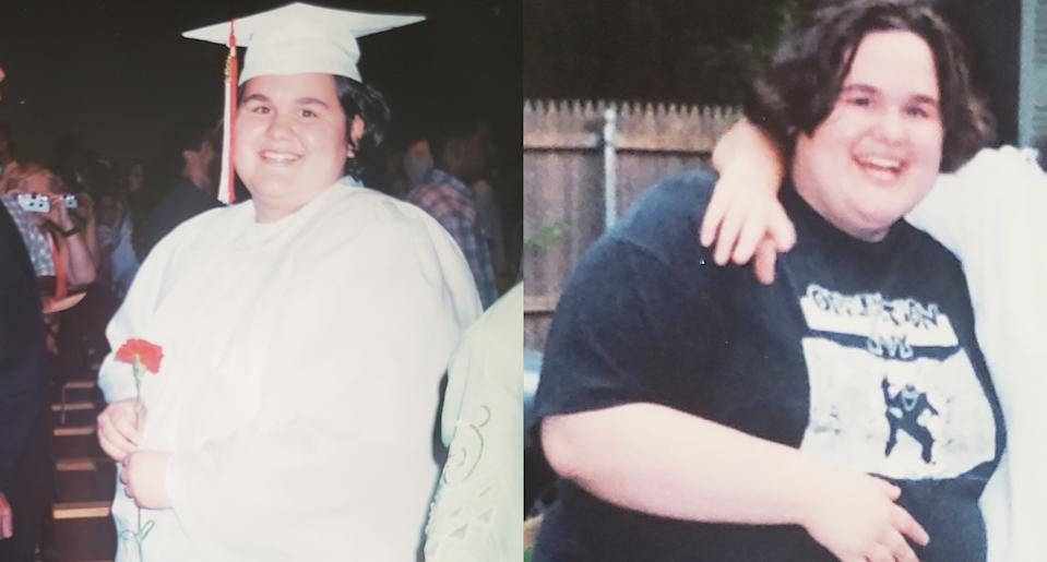 A young Corey Hyland before her weight-loss journey. (Photo: Corey Hyland)