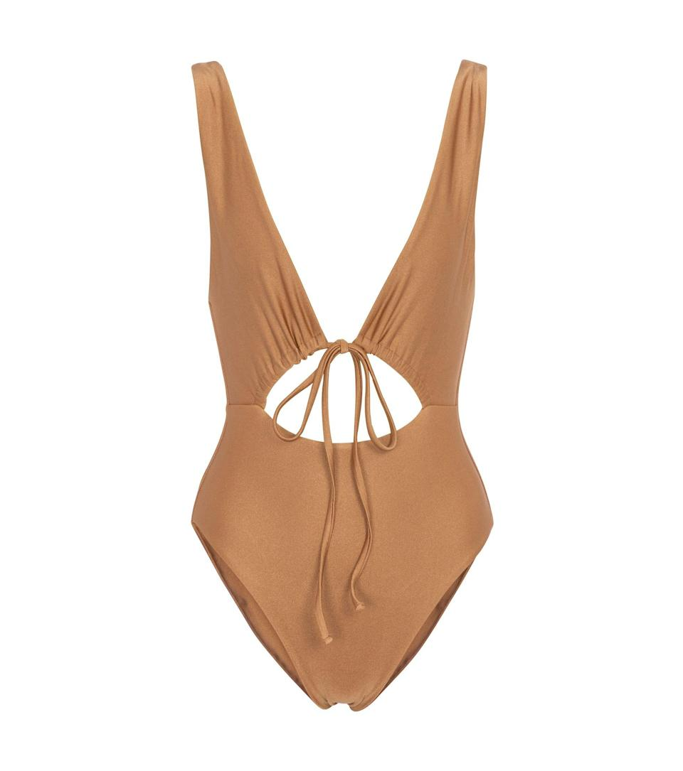 """<p><strong>Jade Swim</strong></p><p>mytheresa.com</p><p><strong>$189.00</strong></p><p><a href=""""https://go.redirectingat.com?id=74968X1596630&url=https%3A%2F%2Fwww.mytheresa.com%2Fen-us%2Fjade-swim-exclusive-to-mytheresa-cava-swimsuit-1801190.html&sref=https%3A%2F%2Fwww.harpersbazaar.com%2Ffashion%2Ftrends%2Fg35903911%2Fsummer-2021-fashion-trends%2F"""" rel=""""nofollow noopener"""" target=""""_blank"""" data-ylk=""""slk:Shop Now"""" class=""""link rapid-noclick-resp"""">Shop Now</a></p><p>Wear with a wrap skirt when you're not poolside.</p>"""