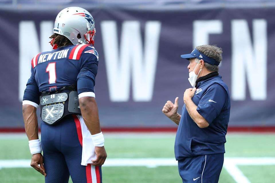 New England's offense with Cam Newton at quarterback and Bill Belichick coaching looks formidable. (Photo by Maddie Meyer/Getty Images)