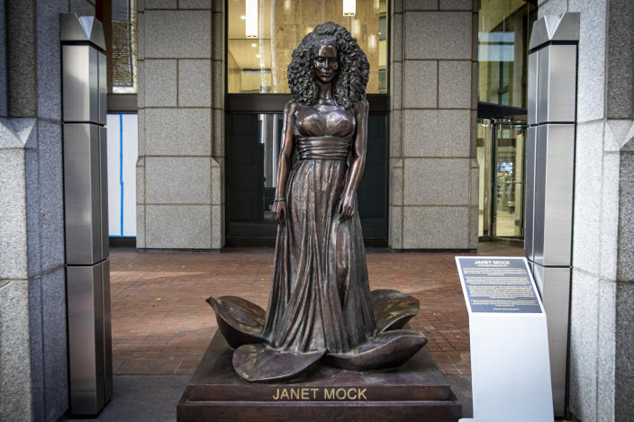 New York Times bestselling author Janet Mock is an American writer, producer, director, advocate for trans rights and the founder of #GirlsLikeUs, a social media project that empowers trans women.  (Photo: Gordon Donovan/Yahoo News)