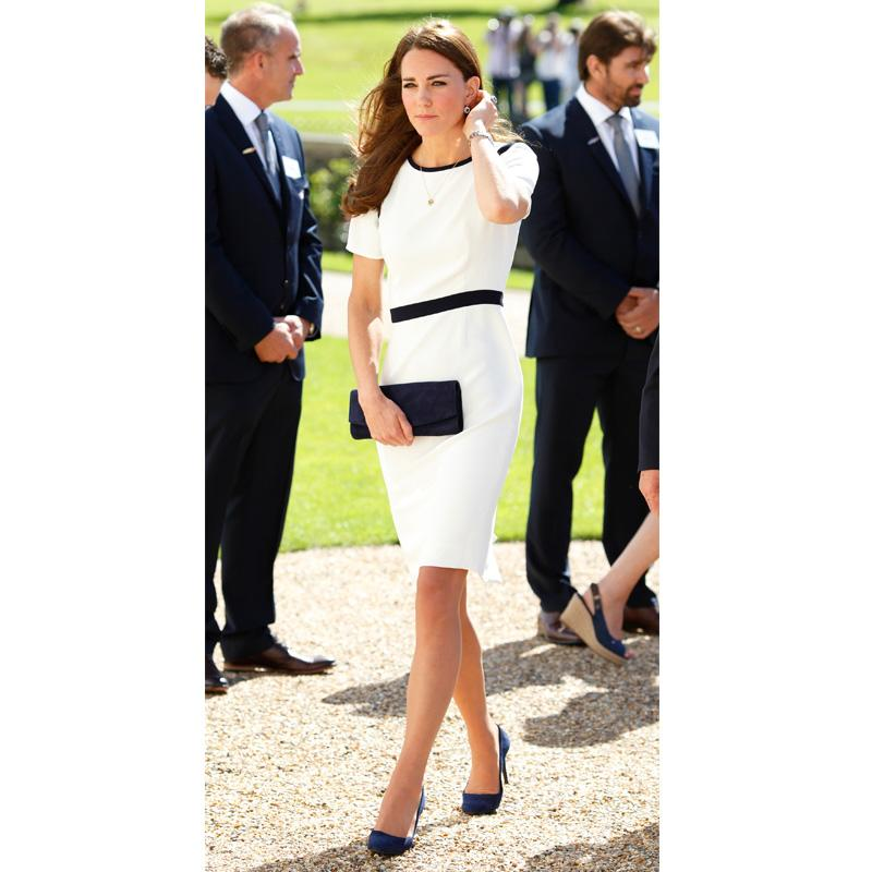 <h2>A perfectly tailored sheath dress</h2>                                                                                                                                                                             <p><p>Atthe Ben Ainslie Racing America's Cup launch event in London, Kate's impeccably structured look wasmade possible by Jaeger.</p>                                                                                                                                                                               <h4>Getty Images</h4>