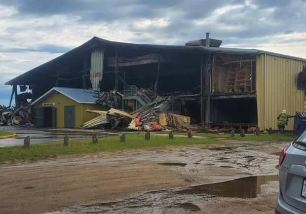 An investigation is underway into the cause of a fire that damaged a large part of the Meadow Lake and District Arena on Saturday morning.