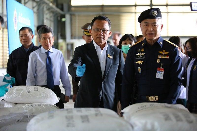 <p>Nearly 11.5 tonnes of white powder from a local warehouse</p>Office of the Narcotics Control Board