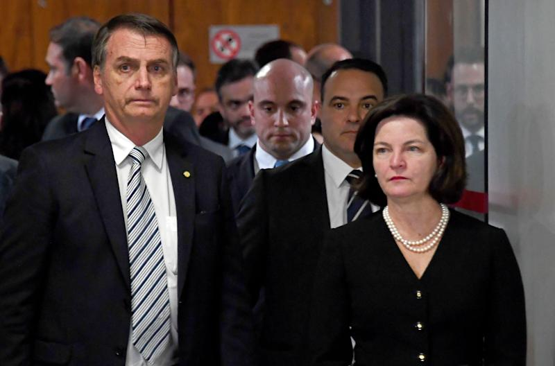 Brazilian President-elect Jair Bolsonaro (L) and Attorney General Raquel Dodge gather for a meeting in Brasilia on November 20, 2018. (Photo by EVARISTO SA / AFP) (Photo credit should read EVARISTO SA/AFP/Getty Images)