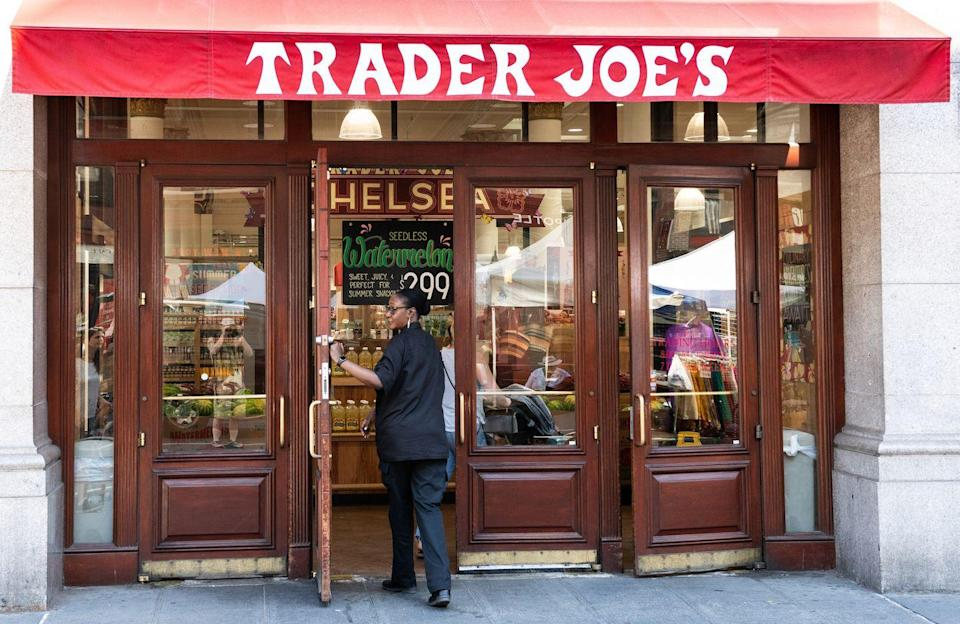 """<p>It's just another element pulled from Joe's nautical inspiration, but it's also incredibly useful. Instead of using a PA system, the store uses the bell and <a href=""""https://www.traderjoes.com/faqs/general-information"""" rel=""""nofollow noopener"""" target=""""_blank"""" data-ylk=""""slk:a special code for various requests"""" class=""""link rapid-noclick-resp"""">a special code for various requests</a>. </p>"""