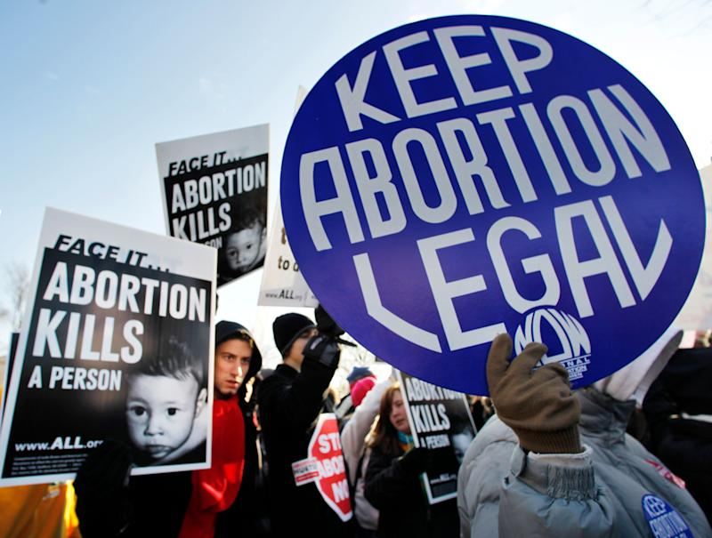 """In a March interview with&nbsp;MSNBC&rsquo;s Chris Matthews, <a href=""""http://www.huffingtonpost.com/entry/donald-trump-abortion-women-punishment_us_56fc2a99e4b083f5c606880d"""">Trump said</a> """"there has to be some form of punishment"""" for abortion if it were to ever be banned in the United States -- and that punishment should fall on women. Yet again, <a href=""""http://www.realclearpolitics.com/video/2016/03/30/trump_some_form_of_punishment_for_women_if_abortion_becomes_illegal.html"""" target=""""_blank"""">Trump later tried to backtrack</a>, clarifying that the person performing the abortion should be held legally responsible, not the woman -- a stance that's not really any more supportive of women's fundamental right to control their own bodies."""