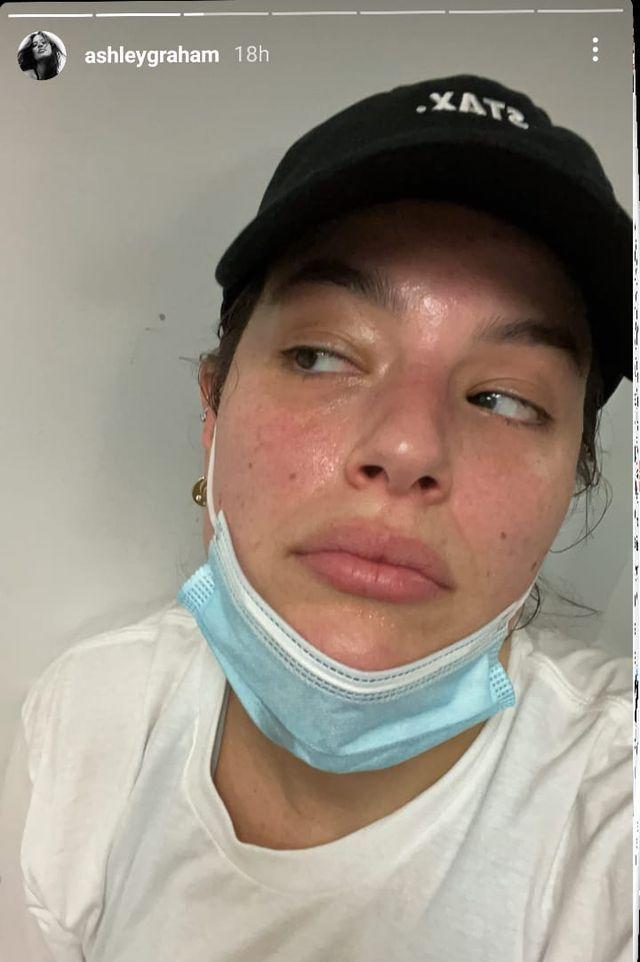 <p>Ashley Graham showed off her real (and totally glowing) skin texture in a make-up free selfie posted to the model's Instagram stories. In the post Graham's skin looks dewy and smooth but with a hint of redness that we can all relate to. The mum of one accessorised her bare skin with a black cap and a blue medical face mask. As we always say, even great skin needs to stay safe.</p>