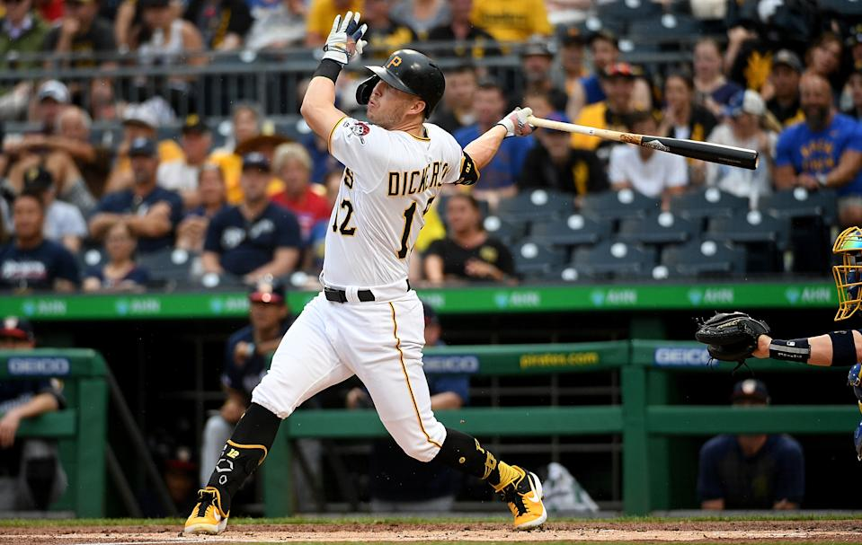 Corey Dickerson has been traded from the Pittsburgh Pirates, but good news: he doesn't even have to leave the state. (Photo by Justin Berl/Getty Images)