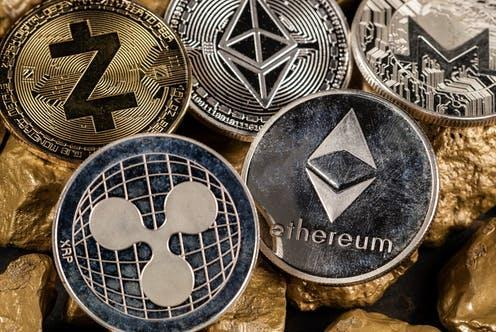 """<span class=""""attribution""""><a class=""""link rapid-noclick-resp"""" href=""""https://www.shutterstock.com/image-photo/cryptocurrency-altcoins-gold-nuggets-investment-store-1968412978"""" rel=""""nofollow noopener"""" target=""""_blank"""" data-ylk=""""slk:24K-Production/Shutterstock"""">24K-Production/Shutterstock</a></span>"""