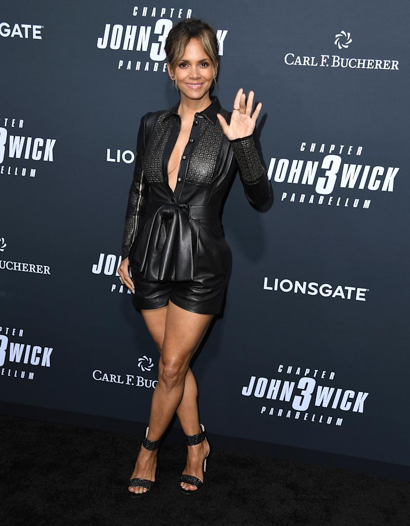 "HOLLYWOOD, CALIFORNIA - MAY 15: Halle Berry arrives at the Special Screening Of Lionsgate's ""John Wick: Chapter 3 - Parabellum"" at TCL Chinese Theatre on May 15, 2019 in Hollywood, California. (Photo by Steve Granitz/WireImage)"