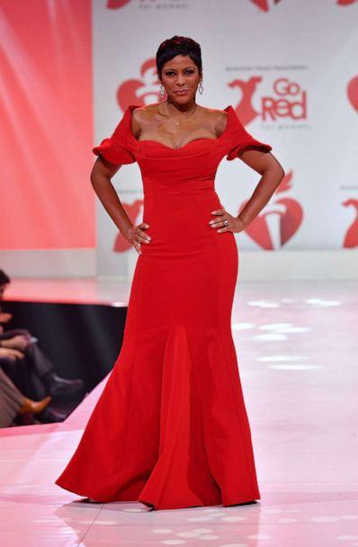 PHOTO: Tamron Hall walks the runway at The American Heart Association's Go Red for Women Red Dress Collection 2020 at Hammerstein Ballroom on Feb. 5, 2020 in New York City. (Slaven Vlasic/Getty Images for American Heart )