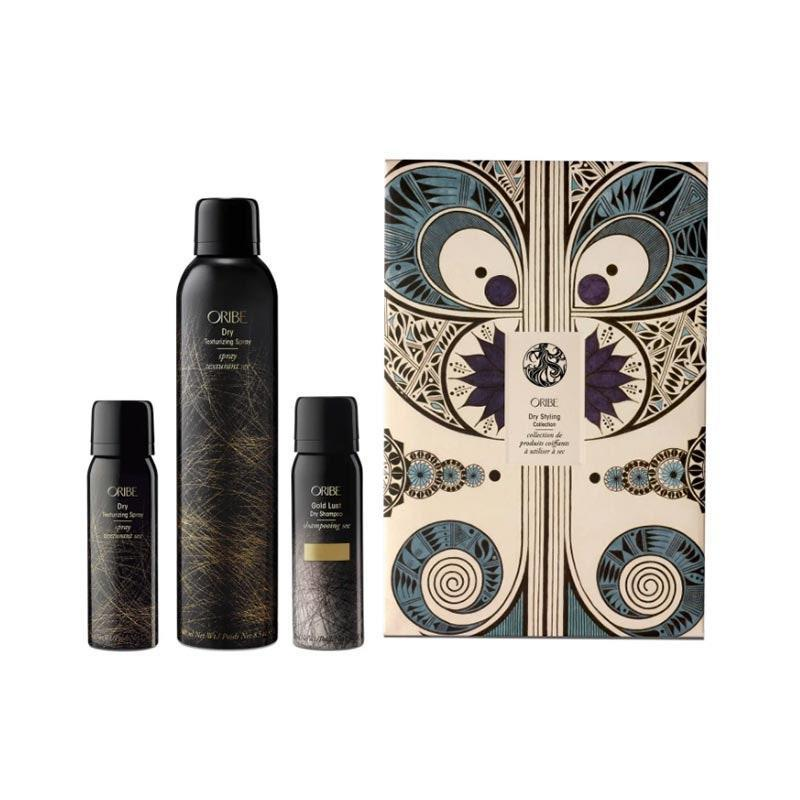 "Give the gift of great hair with Oribe's limited-edition set. It includes a full and travel size of its popular Dry Texturizing Spray, plus a dry shampoo for days when hair could use a little oomph. $75, Nordstrom. <a href=""https://www.nordstrom.com/s/oribe-rowan-harrison-dry-styling-set-usd-94-value/5734682"" rel=""nofollow noopener"" target=""_blank"" data-ylk=""slk:Get it now!"" class=""link rapid-noclick-resp"">Get it now!</a>"