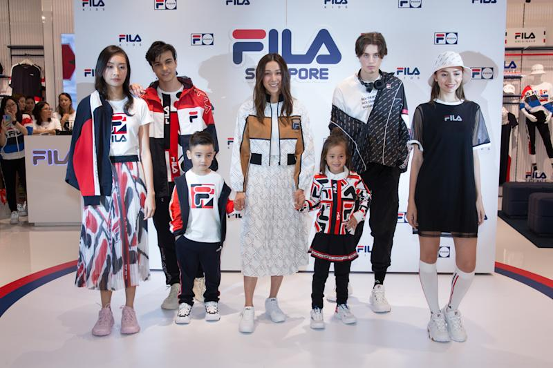 Linda Chung at the opening of FILA store at Jewel Changi Airport. (PHOTO: FILA)