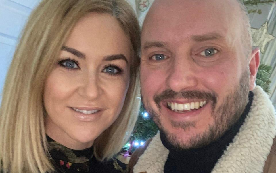 Steve Bland and his girlfriend Amy: 'She knows Rachael will always be a big part of my life and Freddie's'